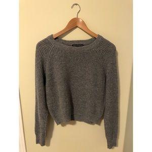 Brandy Melville Grey Knit Sweater
